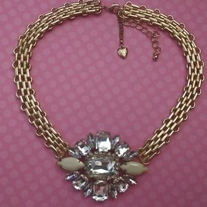 Betsey Johnson Large Crystal Statement Necklace